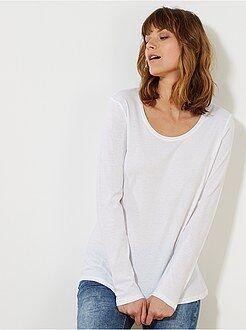 Femme du 34 au 48 - Tee-shirt manches longues - Kiabi