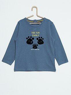 Garçon 0-36 mois Tee-shirt manches longues imprimé fantaisie