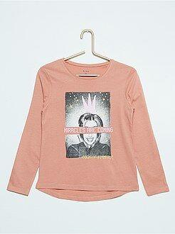 Fille 3-12 ans Tee-shirt manches longues imprimé