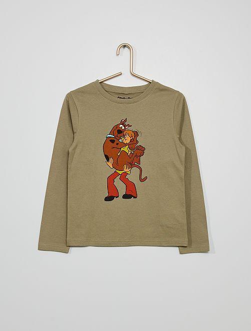 Tee-shirt manches longues 'Scooby-doo'                             kaki brun