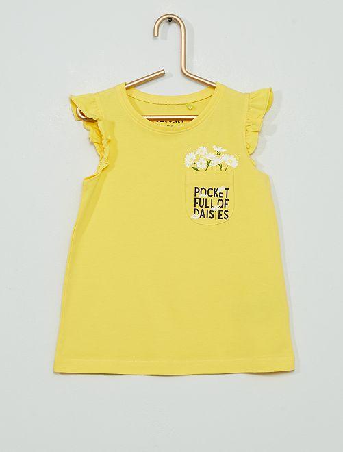 Tee-shirt 'marguerite'                                         jaune