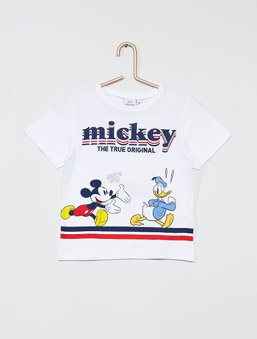 Tee-shirt 'Mickey Mouse' de 'Disney'                                         blanc