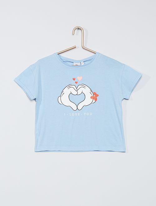 Tee-shirt 'Minnie et Mickey'                                                                 bleu