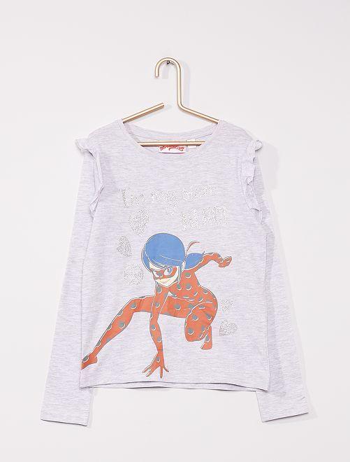 Tee-shirt 'Miraculous' à paillettes                             GRIS