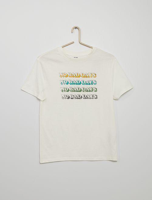 Tee-shirt 'no bad days'                             BEIGE