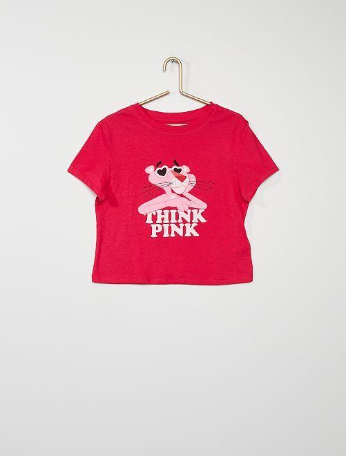 Tee-shirt 'Panthère rose'                             rose