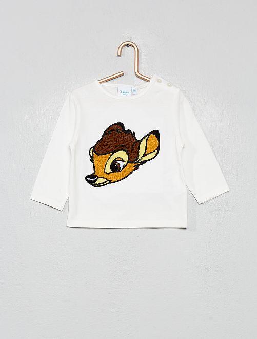 Tee shirt patch bouclette 'Disney'                                         écru