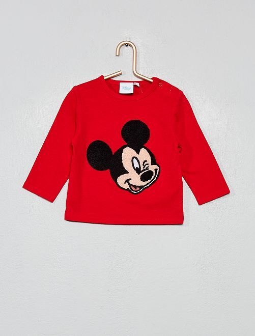Tee shirt patch bouclette 'Disney'                                         rouge