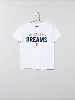 Garçon 3-12 ans - Tee-shirt pur coton 'The Dreams School' - Kiabi