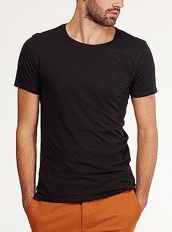 T-shirt basique - Tee-shirt slim col rond jersey light