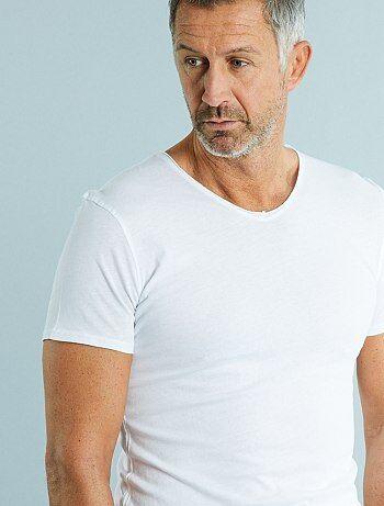 Tee shirt slim col V jersey light