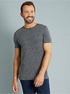 Homme du S au XXL Tee-shirt slim fit en jersey chiné