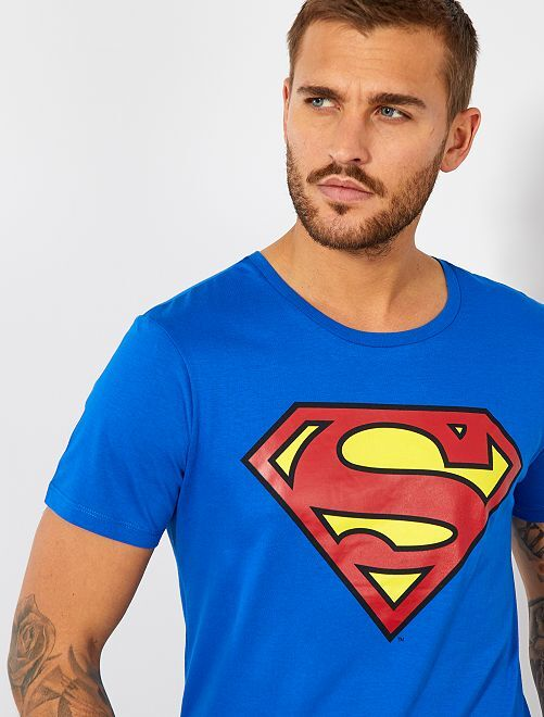 Tee-shirt 'Superman'                             bleu