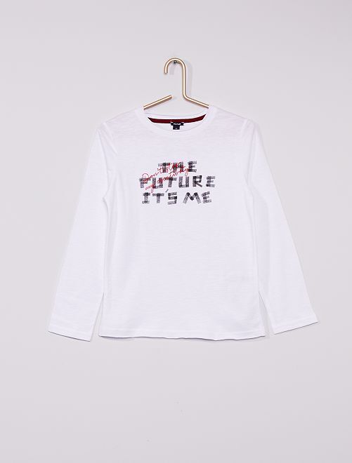 Tee-shirt 'The future it's me'                     BLANC