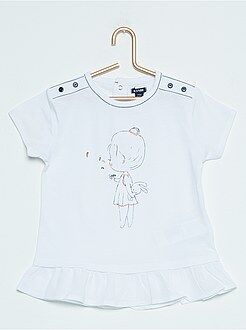 Fille 0-36 mois Tee-shirt tunique imprimé 'fillette'