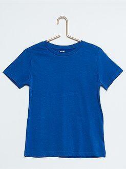 Garçon 4-12 ans Tee-shirt uni pur coton