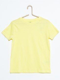 Tee-shirt uni pur coton