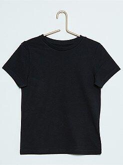 Garçon 3-12 ans Tee-shirt uni pur coton