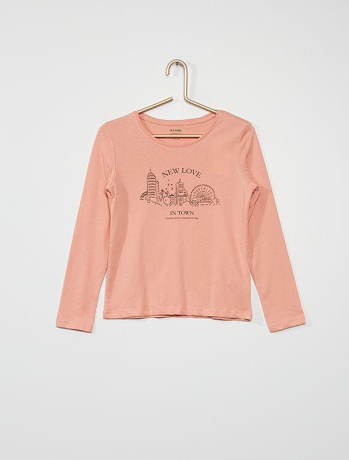 Tee-shirt 'ville'                                                                                                                                         rose
