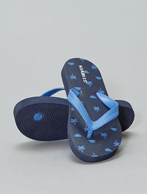 Tongs imprimées                                                     bleu palmiers Chaussures