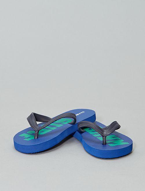 Tongs imprimées                                                     bleu surf