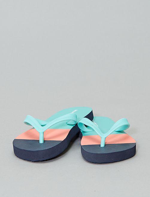 Tongs imprimées                                                     bleu/turquoise/orange