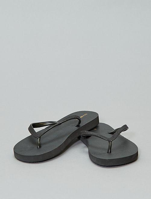 Tongs pailletées                                                     noir Chaussures