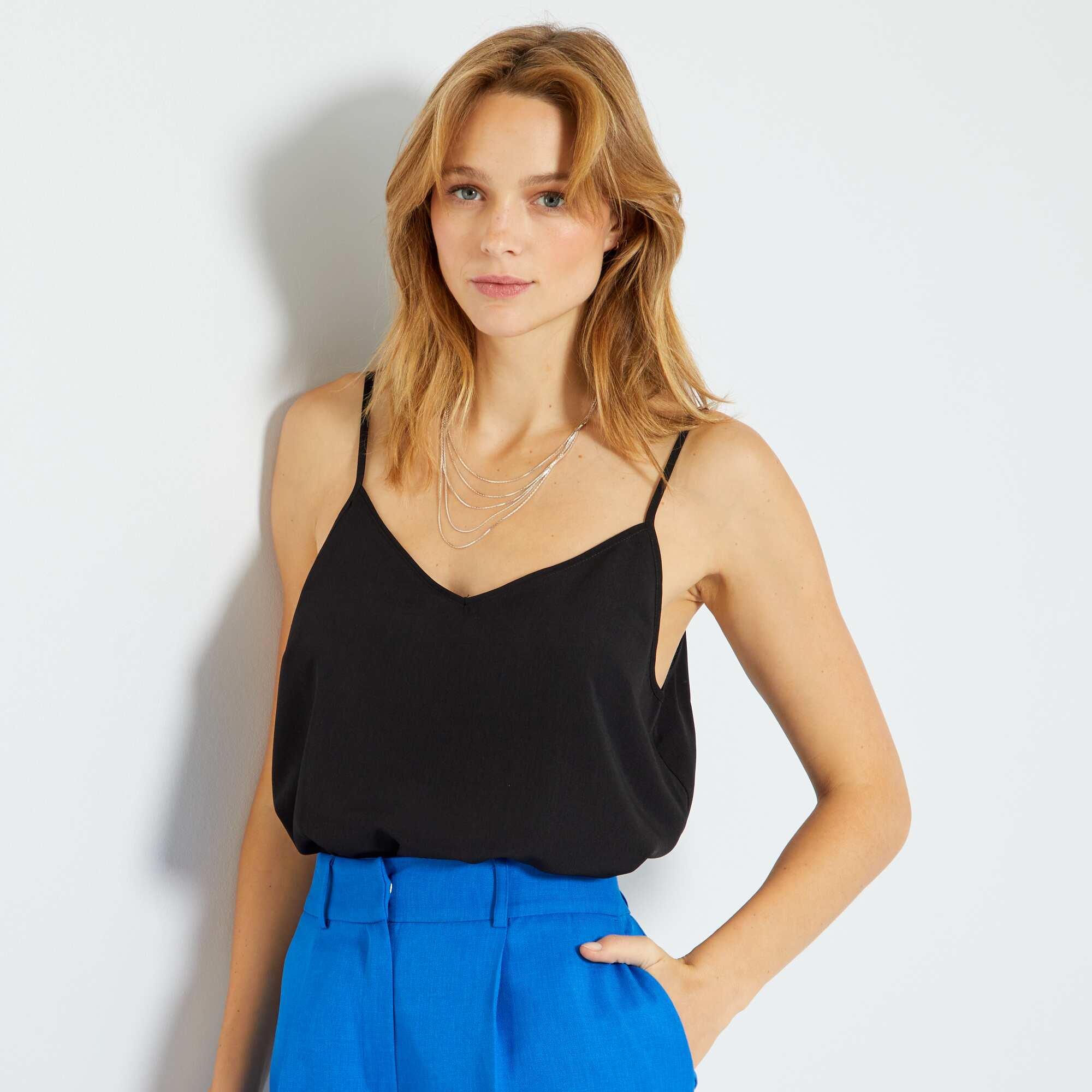 e8347a9a127 Top fines bretelles Femme - noir - Kiabi - 5