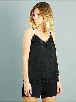 Top, blouse taille s - Top fluide effet lingerie