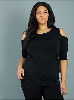 Grande taille femme - Top fluide épaules dénudées - Kiabi