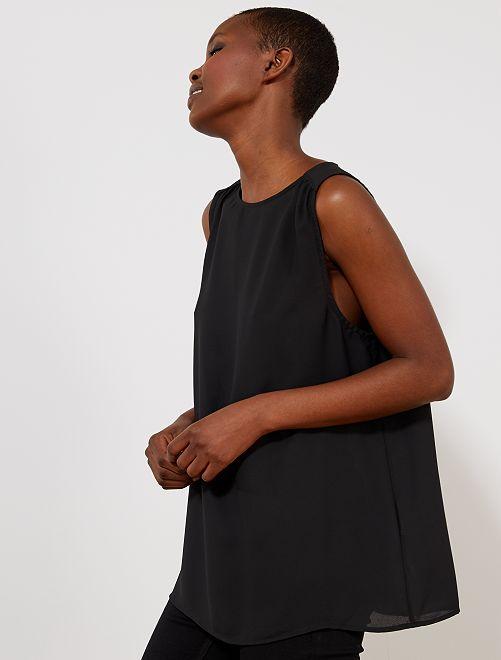 Top fluide imprimé                                                                                         noir Femme