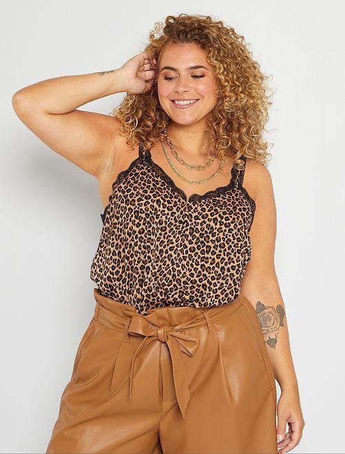 Top lingerie avec dentelle                                                     léopard