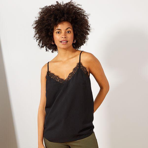 Top lingerie en dentelle Femme - noir - Kiabi