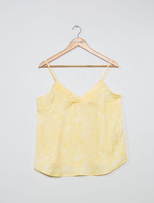 Top lingerie imprimé                                                                 jaune