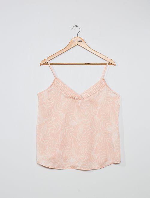 Top lingerie imprimé                                                                 rose