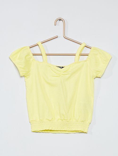 Top smocké                                         jaune