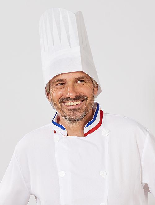 Toque de cuisinier                             blanc