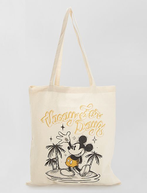 Tote bag 'Mickey'                                                                 blanc