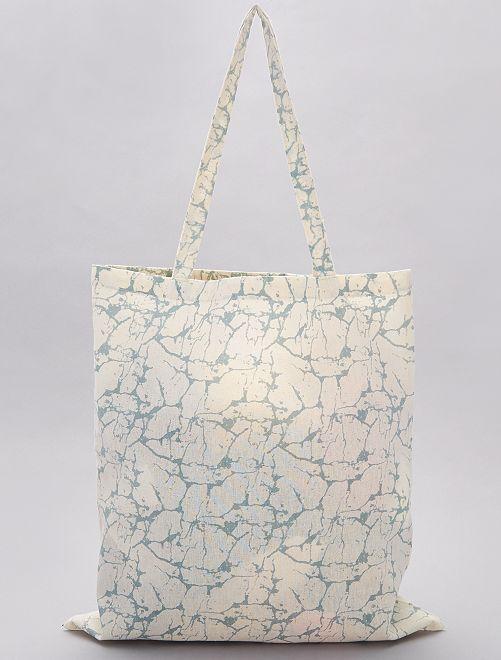 Totebag à motifs                                                     bleu/marbre