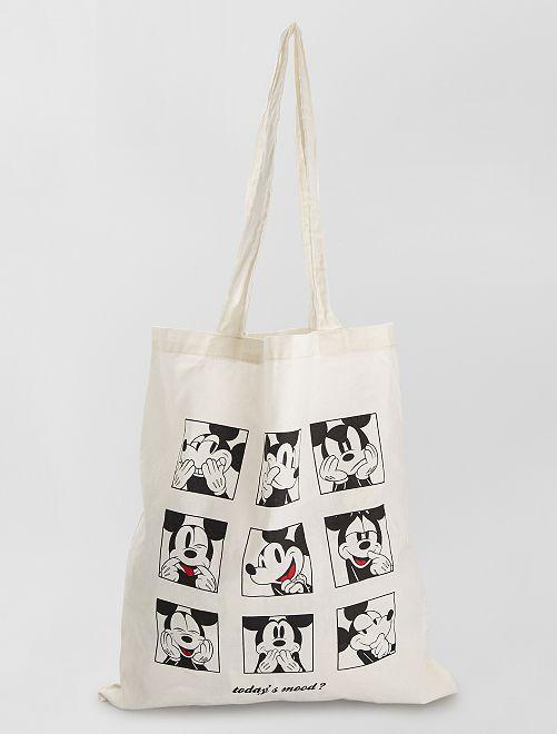 Totebag 'Mickey et Minnie'                             BLANC