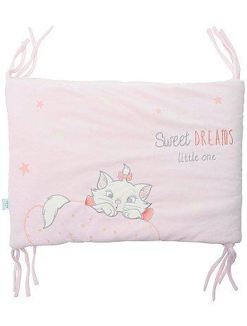 tour de lit en velours 'disney' bébé fille - rose pâle - kiabi