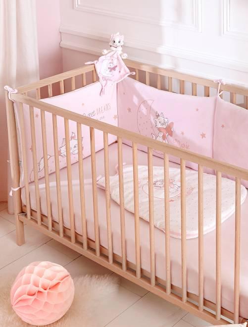 tour de lit en velours 39 disney 39 b b fille rose p le. Black Bedroom Furniture Sets. Home Design Ideas