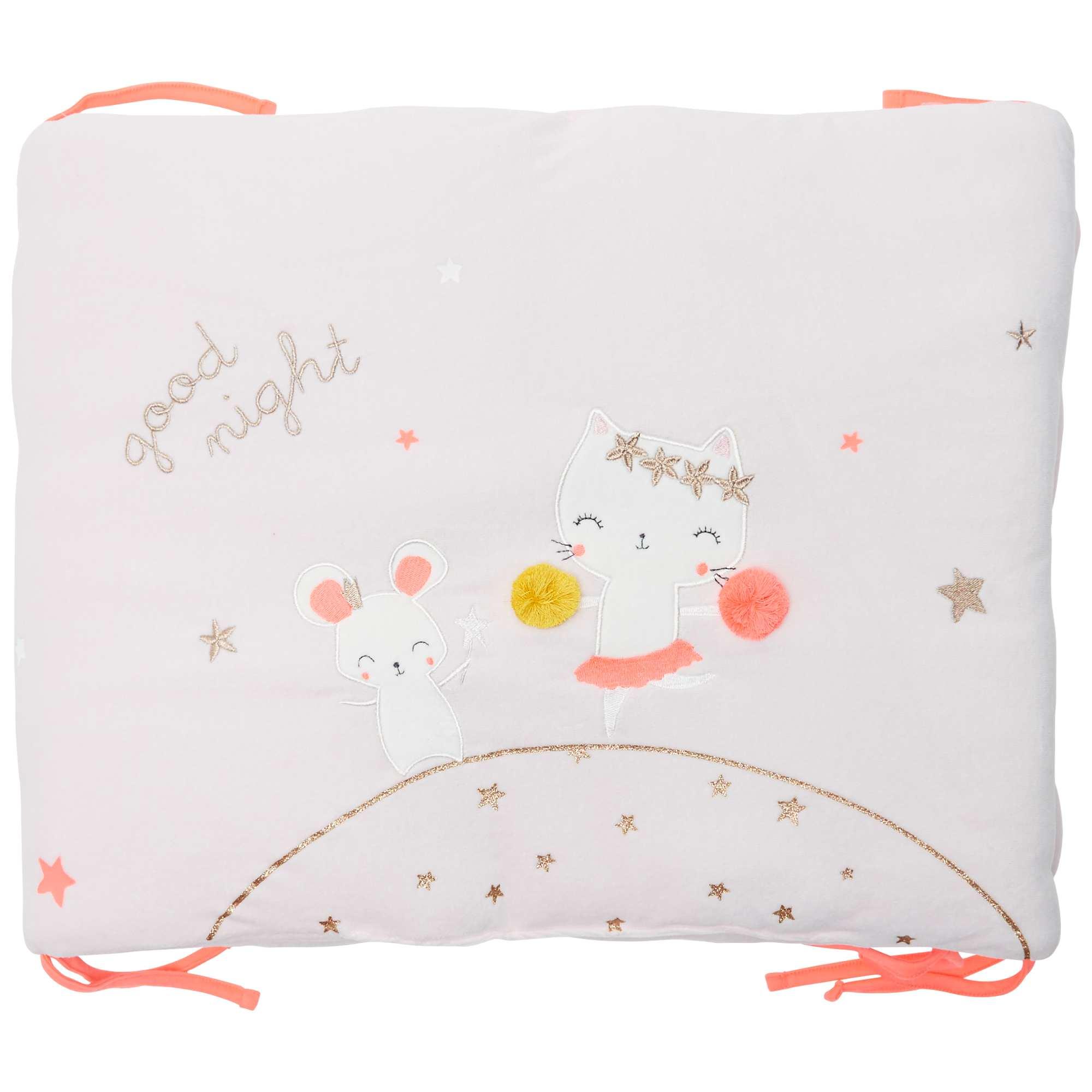 Couleur : rose pâle, , ,, - Taille : TU, , ,,Un tour de lit tout doux pour que bébé se sente comme dans un cocon. On adore ses jolis