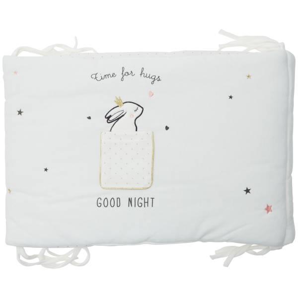 Tour de lit en velours imprimé \'lapins câlins\'