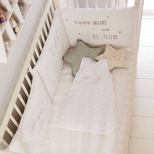 Tour de lit en velours \'Lapin\'
