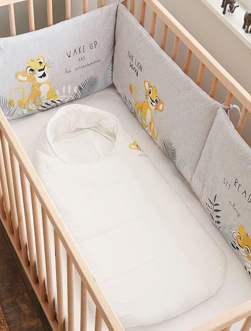 Tour de lit en velours 'Simba'                             gris Bébé garçon