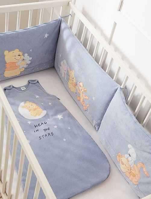 Tour de lit en velours 'Winnie et ses amis'                             bleu Bébé garçon