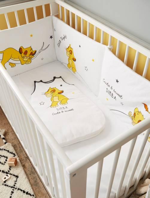 tour de lit 39 roi lion 39 de 39 disney 39 b b gar on blanc. Black Bedroom Furniture Sets. Home Design Ideas