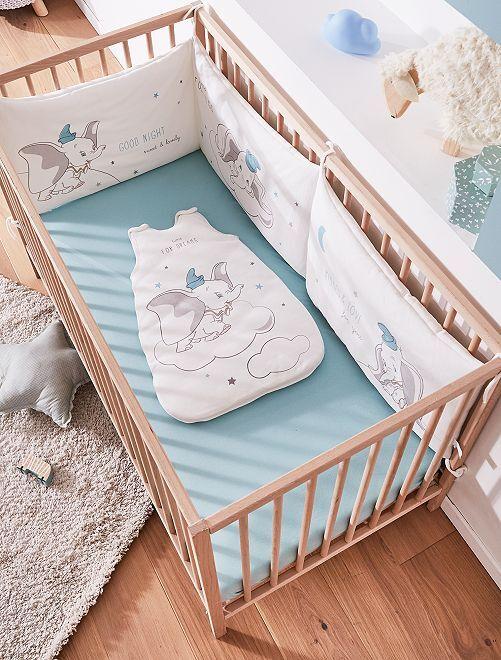 Tour de lit velours 'Dumbo'                             blanc