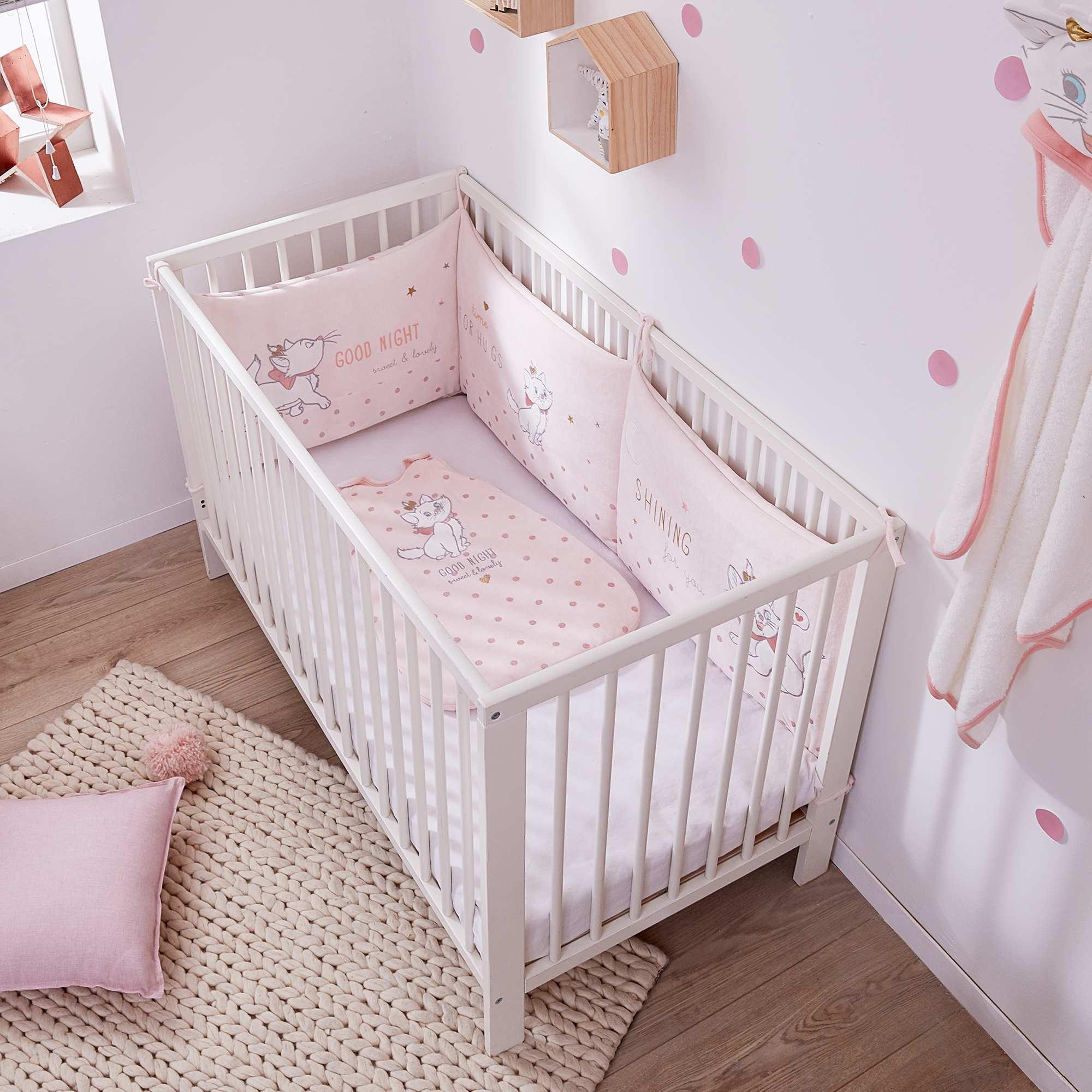 Tour de lit velours \'Marie\' des \'Aristochats\' Bébé fille - rose ...